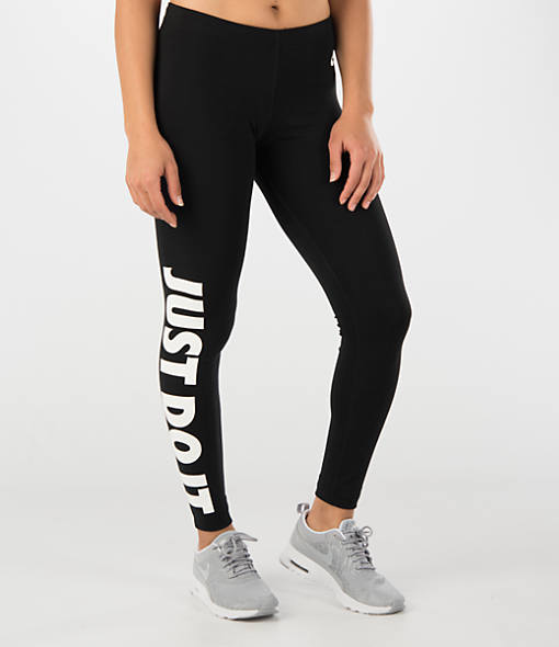 women 39 s nike leg a see just do it leggings finish line. Black Bedroom Furniture Sets. Home Design Ideas