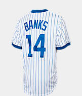 Men's Majestic Chicago Cubs MLB Ernie Banks Throwback Jersey