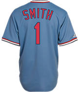 Men's Majestic St. Louis Cardinals MLB Ozzie Smith Throwback Jersey