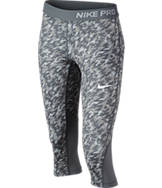 Girls' Nike Pro Cool Allover Print Capris
