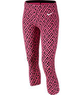 Girls' Nike Club Allover Print Cropped Leggings