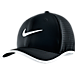 Front view of Unisex Nike Aerobill Classic 99 Adjustable Back Hat in Black/White