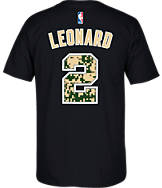 Men's adidas San Antonio Spurs NBA Kawhi Leonard Camo Name and Number T-Shirt