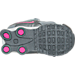 Bottom view of Girls' Toddler Nike Shox Current Running Shoes in Grey/Pink