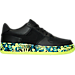 Right view of Boys' Grade School Nike Air Force 1 Premium Casual Shoes in Black/Volt/Rio Teal