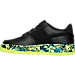 Left view of Boys' Grade School Nike Air Force 1 Premium Casual Shoes in Black/Volt/Rio Teal