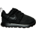 Right view of Boys' Toddler Nike Roshe One Casual Shoes in Black/Black/Black