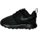Left view of Boys' Toddler Nike Roshe One Casual Shoes in Black/Black/Black