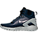 Left view of Men's Nike Mobb Ultra High Boots in Obsidian/Black/Matte Silver