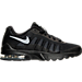 Right view of Boys' Grade School Nike Air Max Invigor Running Shoes in Black/Wolf Grey