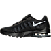 Left view of Boys' Grade School Nike Air Max Invigor Running Shoes in Black/Wolf Grey