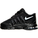 Left view of Boys' Toddler Nike Air Max Invigor Running Shoes in Black/Wolf Grey