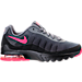 Right view of Girls' Grade School Nike Air Max Invigor Running Shoes in Black/Racer Pink/Cool Grey