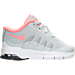 Right view of Girls' Toddler Nike Air Max Invigor Running Shoes in White/Grey/Hot Lava