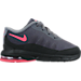 Right view of Girls' Toddler Nike Air Max Invigor Running Shoes in Black/Racer Pink/Cool Grey