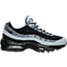 Right view of Men's Nike Air Max 95 Essential Running Shoes in Black/Wolf Grey/Classic Grey