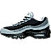 Left view of Men's Nike Air Max 95 Essential Running Shoes in Black/Wolf Grey/Classic Grey