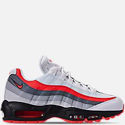 나이키 맨 Mens Nike Air Max 95 Essential Casual Shoes,White/Bright Crimson/Black/Pure Platinum