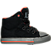 Right view of Boys' Toddler Converse Chuck Taylor All Star Hi Street Shield Casual Shoes in BLK