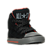 Three Quarter view of Boys' Toddler Converse Chuck Taylor All Star Hi Street Shield Casual Shoes in BLK
