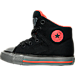 Left view of Boys' Toddler Converse Chuck Taylor All Star Hi Street Shield Casual Shoes in BLK
