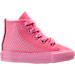 Right view of Girls' Toddler Converse Chuck Taylor All Star Hi Casual Shoes in Pink Glow/Pink Glow