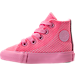 Left view of Girls' Toddler Converse Chuck Taylor All Star Hi Casual Shoes in Pink Glow/Pink Glow