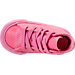 Top view of Girls' Toddler Converse Chuck Taylor All Star Hi Casual Shoes in Pink Glow/Pink Glow