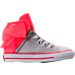 Right view of Girls' Toddlers Converse Block Party Casual Shoes in Pink/Grey
