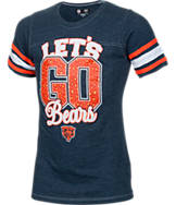 Girls' New Era Chicago Bears NFL Sleeve Stripe T-Shirt