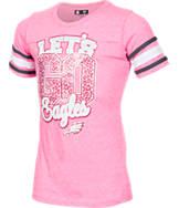 Girls' New Era Philadelphia Eagles NFL Sleeve Stripe T-Shirt