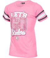 Girls' New Era Pittsburgh Steelers NFL Sleeve Stripe T-Shirt