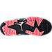 Bottom view of Girls' Preschool Jordan Retro 6 Low Basketball Shoes in Black/Sunblush/Metallic Silver