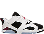 Girls' Preschool Air Jordan Retro 6 Low Basketball Shoes