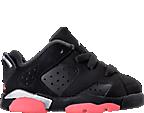 Girls' Toddler Jordan Retro 6 Low Basketball Shoes