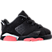 Girls' Toddler Jordan Retro 6 Low Basketball Shoes Product Image