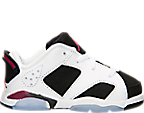 Girls' Toddler Air Jordan Retro 6 Low Basketball Shoes