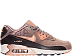 Women's Nike Air Max 90 Leather Running Shoes