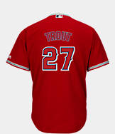 Men's Majestic Los Angeles Angels MLB Mike Trout Replica Jersey