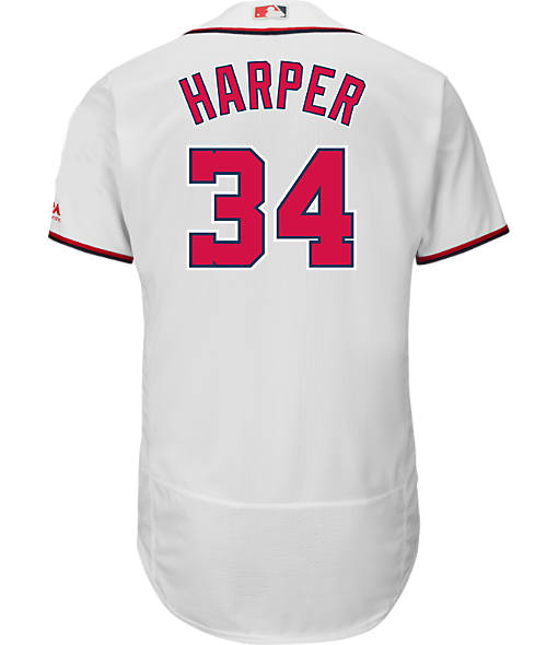 Men's Majestic Washington Nationals MLB Bryce Harper Replica Jersey