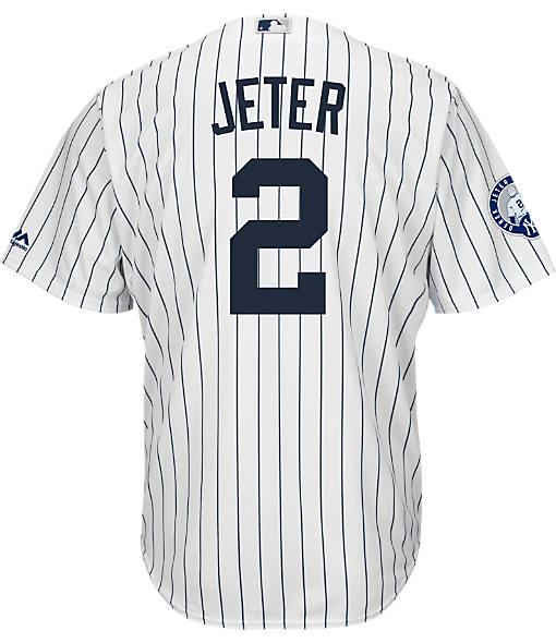 Men's Majestic New York Yankees MLB Derek Jeter Retirement Jersey