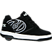 Right view of Boys' Preschool Heelys Propel 2.0 Wheeled Skate Shoes in Black/White