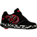 Right view of Boys' Grade School Heelys Propel 2.0 Wheeled Skate Shoes in Black/Red/Grey