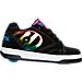 Right view of Girls' Grade School Heelys Propel 2.0 Wheeled Skate Shoes in Black/Rainbow/Foil