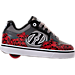 Right view of Boys' Preschool Heelys Motion Wheeled Skate Shoes in Black/Grey/Red