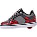Left view of Boys' Preschool Heelys Motion Wheeled Skate Shoes in Black/Grey/Red