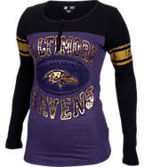Women's New Era Baltimore Ravens NFL Long-Sleeve Henley Shirt