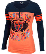 Women's New Era Chicago Bears NFL Long-Sleeve Henley Shirt