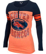 Women's New Era Denver Broncos NFL Long-Sleeve Henley Shirt