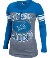 Women's New Era Detroit Lions NFL Long-Sleeve Henley Shirt
